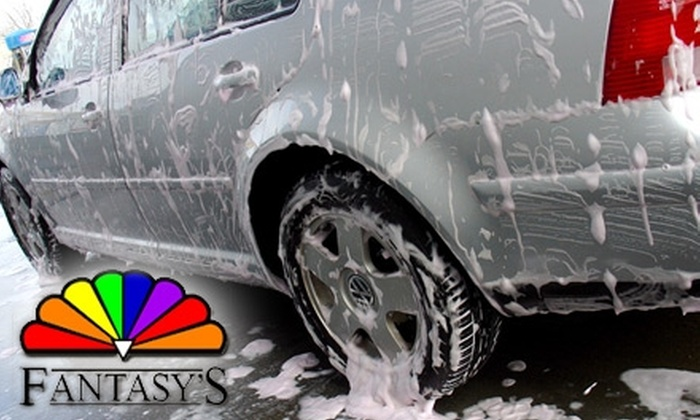 Fantasy's - Multiple Locations: $10 for Two Touch-Free Car Washes and a Beverage at Fantasy's ($23.27 Value)