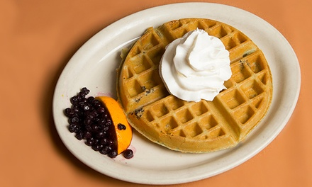 Breakfast and Diner Food for Two or Four at The Waffle Spot (Up to 50% Off). Four Options Available.