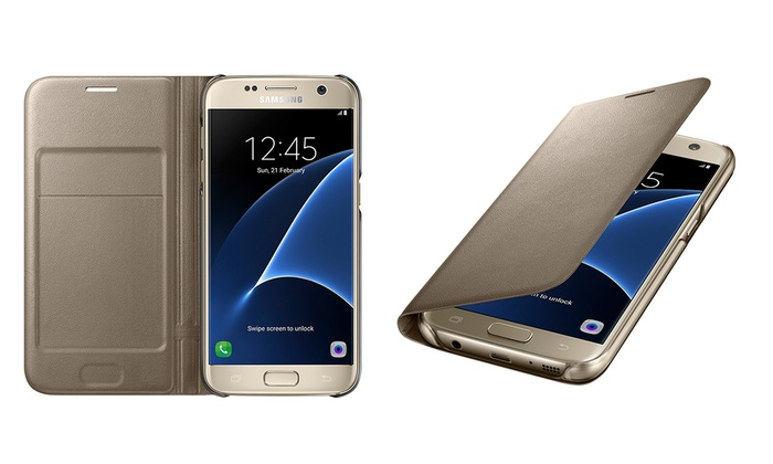 factory price b6119 36526 Samsung Galaxy S7 LED View Cover   Groupon Goods