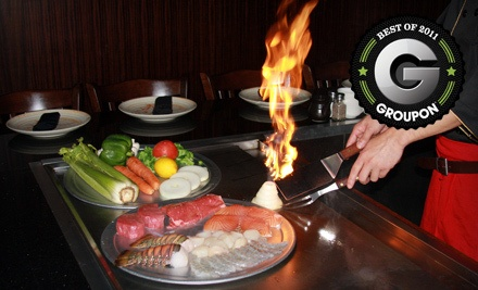 $30 Groupon for Dinner - Samurai Sushi and Hibachi in Strongsville
