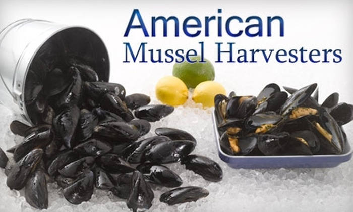 American Mussel Harvesters - North Kingstown: $7 for 10 Pounds of Restaurant-Ready Whitewater Mussels at American Mussel Harvesters in North Kingstown ($15 Value)