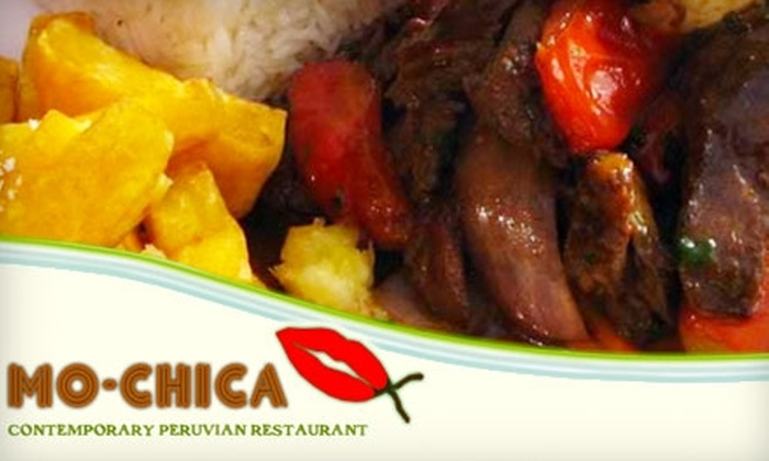 Mo-chica - Southeast Los Angeles: $10 for $20 Worth of Peruvian Delicacies at Mo-chica