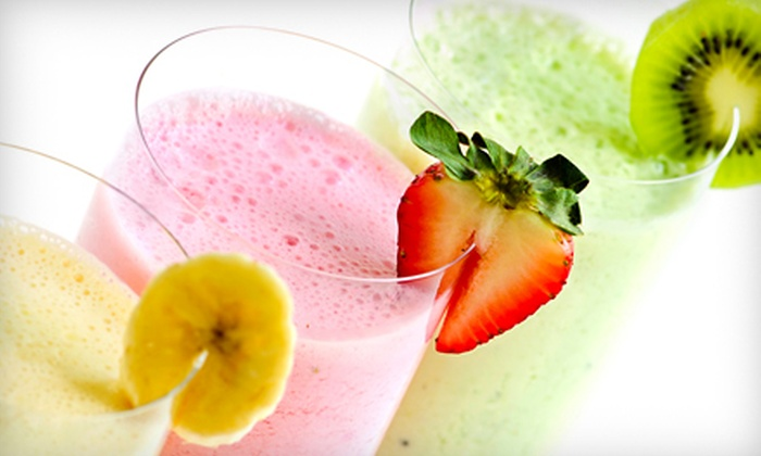 Juice & Java - Aventura Mall: Fruit Smoothie and Salad Meal, Pitas and Smoothies for Two, or Combo Platters and Smoothies for Two at Juice & Java