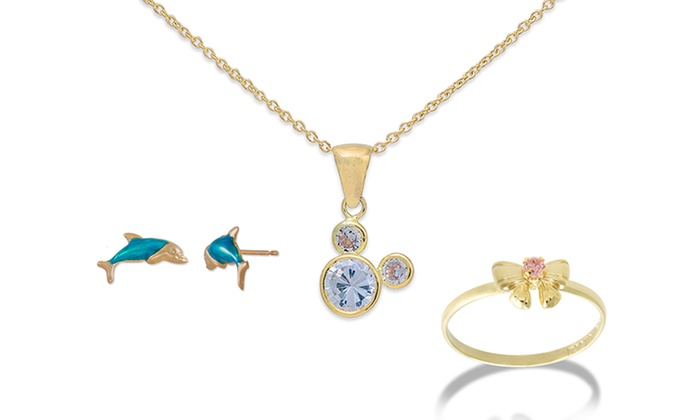 Disney Jewelry in 10K Gold: Disney Jewelry in 10K Gold. Multiple Styles Available. Free Shipping and Returns.