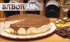 SaborAM - North Naples: $50 for a Wine-Infused Cheesecake from SaborAM ($100 Value)