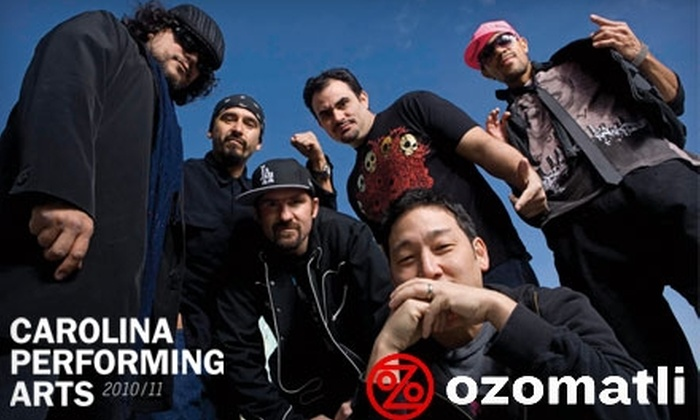 Carolina Performing Arts - University of North Carolina at Chapel Hill: $25 for One Premium Ticket to Ozomatli Concert at Memorial Hall on Friday, October 1, at 8 p.m. ($55 Value)