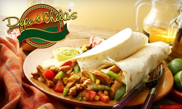 Pepe and Chela's - Topeka / Lawrence: $10 for $20 Worth of Mexican Fare and Drinks at Pepe and Chela's