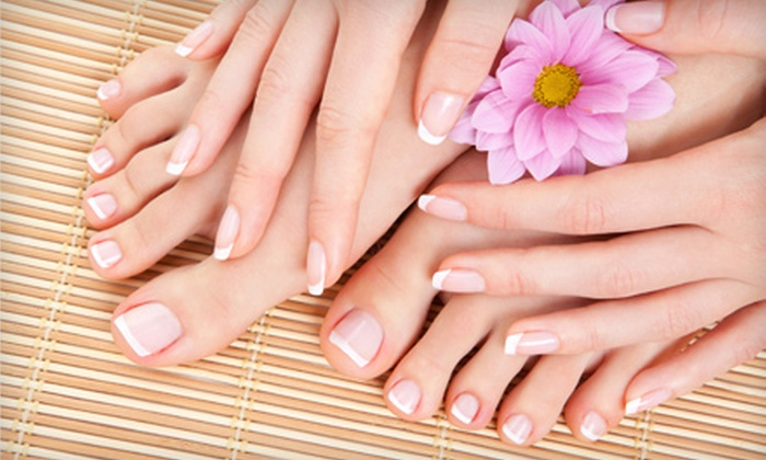 Martoni's Salon - Trenton: $22 for a Mani-Pedi at Martoni's Salon in Trenton ($45 Value)