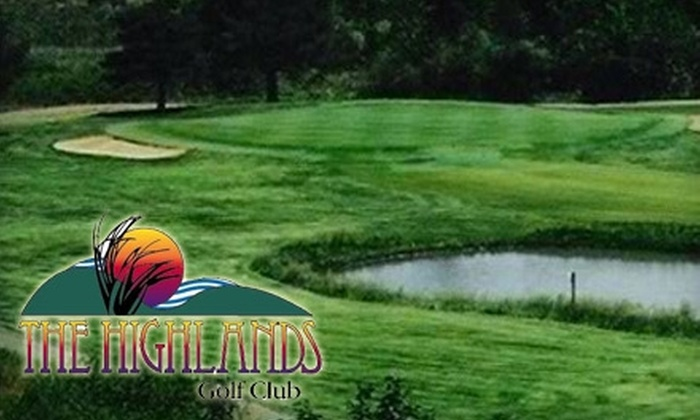 The Highlands Golf Club - Grant: $49 for 18 Holes of Golf for Two People and Cart Rental at The Highlands Golf Club in Hutchinson (Up to $102 Value)