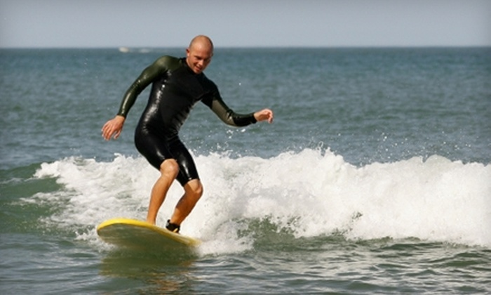 Newport Beach Surfing Lessons - Newport Beach: $100 for Semi-Private Surf Lessons for Two at Newport Beach Surfing Lessons ($200 Value)