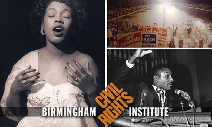 Birmingham Civil Rights Institute - Fountain Heights: $17 Individual Membership or $25 Family Membership to the Birmingham Civil Rights Institute