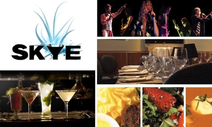 SKYE - Fletcher Heights: $25 for Two Concert Tickets and $20 Worth of Fine Dining at Skye in Peoria (Up to $140 Value)