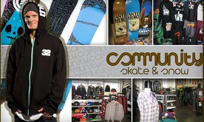 Community Skate & Snow - I-70 Corridor: $25 for $50 Worth of Sustainably Made Merchandise at Community Skate & Snow