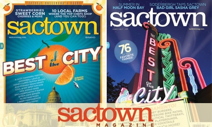 Sactown Magazine - Sacramento: $6 for a One-Year Subscription (Six Issues) to Sactown Magazine ($12 Value)