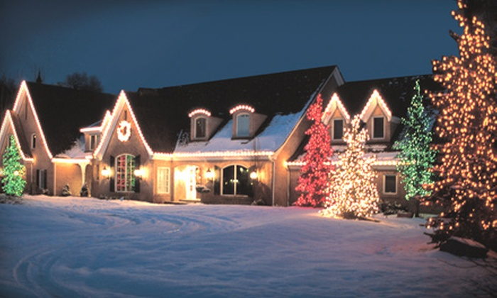 The Veron Company - Worcester: $549 for Full Roofline Holiday Lighting Up to 150 Linear Feet from The Veron Company ($1,125 Value)