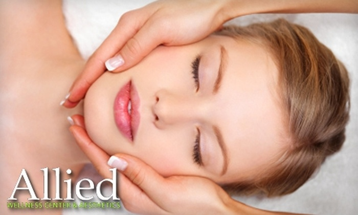 Allied Wellness Center & Aesthetics - Multiple Locations: $75 for Skin Analysis, Chemical Peel, Makeup Application, and LipDrink at Allied Wellness Center & Aesthetics