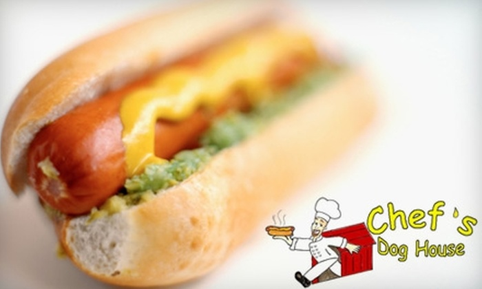 Chef's Dog House - Newington: $5 for $10 Worth of Hot Dogs, Burgers, and Drinks at Chef's Dog House in Newington