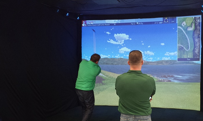 SimPlay NY - SimPlay NY: One-Hour Interactive Sports-Simulator Session with Drinks for Up to Four at  SimPlay NY (Up to 54% Off)