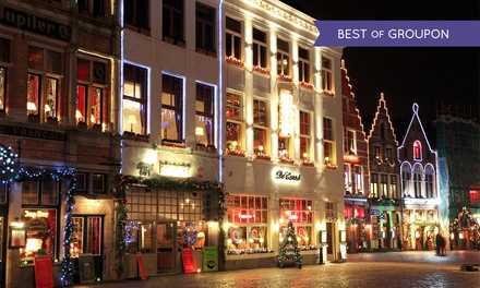 Bruges: Christmas Market and Mini Cruise with Stay at Ibis Bruges or NH Brugge Hotel*