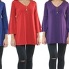 Women's Bell-Sleeve Tunic. Plus Sizes Available.