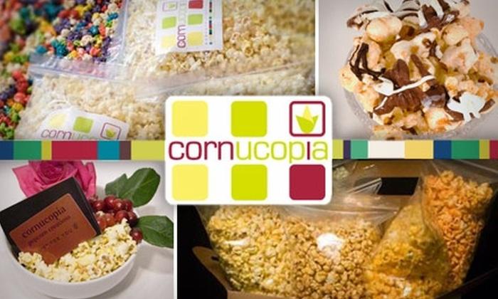 Cornucopia Popcorn Creations - Downtown: $35 for a 6.5-Gallon Tin of Gourmet Popcorn from Cornucopia