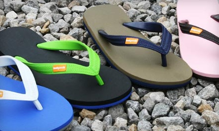 Feelgoodz: $15 for Pair of All-Natural Rubber Flip-Flops from Feelgoodz (Up to $30 Value). Shipping Included.