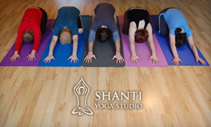 Shanti Yoga Studio - Edmonton: $45 for One Month of Unlimited Classes at Shanti Yoga Studio (Up to $110 Value)