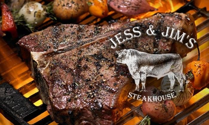 Jess & Jim's Steak House - Martin City: $20 for $40 Worth of Steak, Seafood, and More at Jess & Jim's Steak House