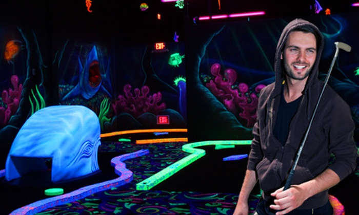 Fore! Family Fun - Oswego: Fun Pack for Four or One Round of Black-Light Mini Golf at Fore! Family Fun in Oswego