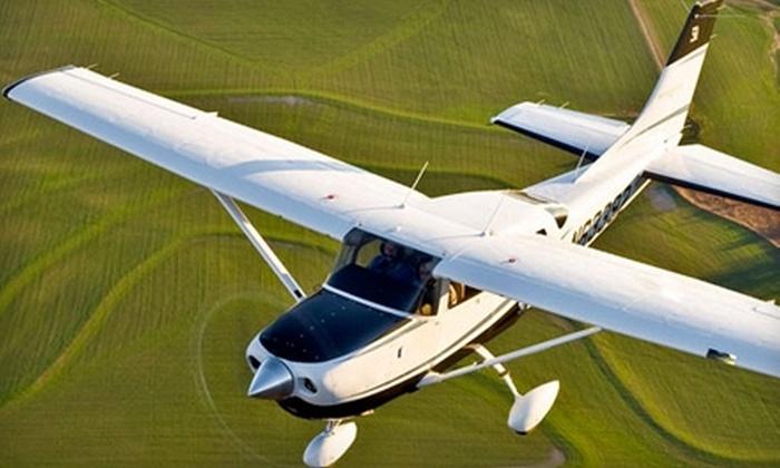 Burlington Aviation - 12, Burlington: $99 for One-Hour Introductory Flight Lesson at Burlington Aviation ($198 Value)