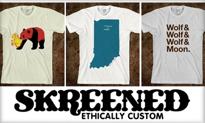 Skreened - Indianapolis: $15 for $30 Worth of Online, Custom-Designed Clothing at Skreened
