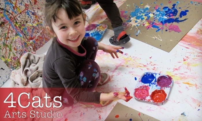 4Cats Arts Studio - Hintonburg - Mechanicsville: $22 for Two Kids' Workshops at 4Cats Arts Studio ($45.20 Value)