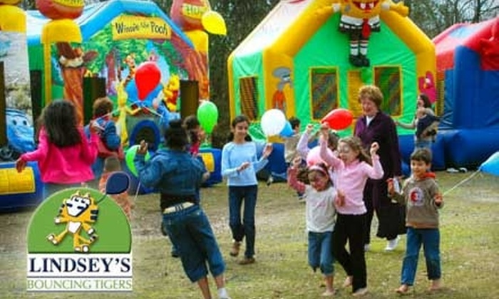 Lindsey's Bouncing Tigers - Airline/Jefferson: $40 for $100 Worth of Rental Party Equipment from Lindsey's Entertainment or $35 for 20 Play Passes (Up to $150 Value) at Lindsey's Bouncing Tigers