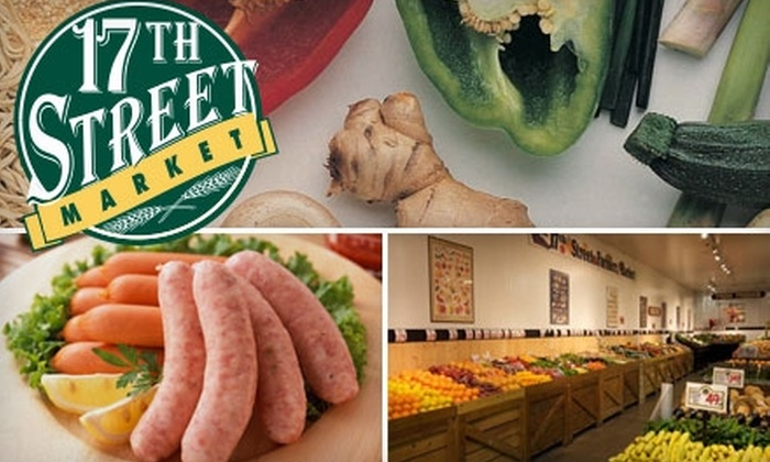 17th Street Market - Downtown Tucson: $15 for $30 Worth of Organic Produce, Specialty Meats, and Fresh Fish at 17th Street Market