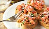 OOB-Amore Mangola's Italian Restaurant - Alief: Three-Course Italian Meal for Four or Italian Lunch or Dinner Fare at Amore Mangola's Restaurant (Up to 54% Off)