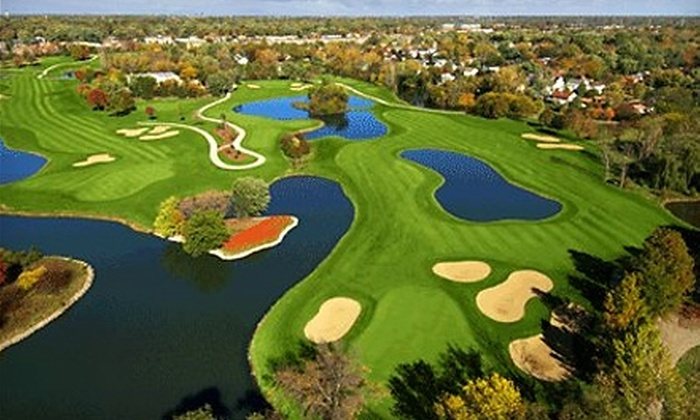 The Village Links of Glen Ellyn - Glen Ellyn: $22 for One Round of Golf with Cart on the 9-Hole Course and Bucket of Range Balls at The Village Links of Glen Ellyn (Up to $44 Value)