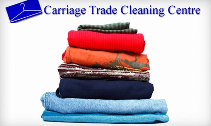 Carriage Trade Cleaning Centre - Multiple Locations: $10 for $20 Worth of Laundry Services at Carriage Trade Cleaning Centre