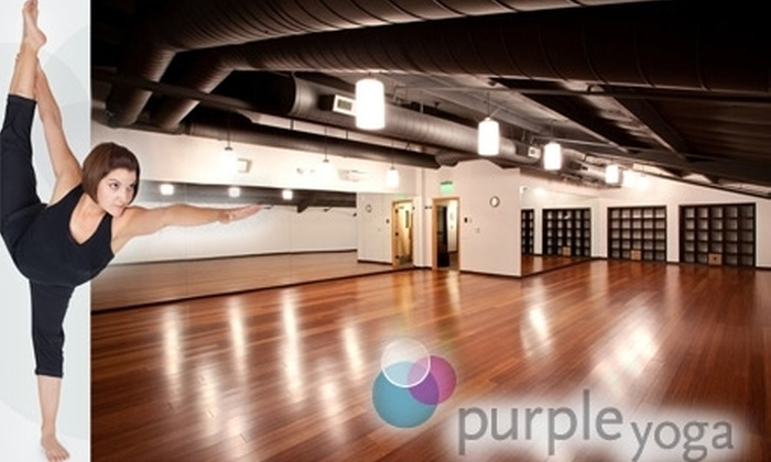 Purple Yoga - Multiple Locations: $29 for One Month of Unlimited Yoga at Purple Yoga