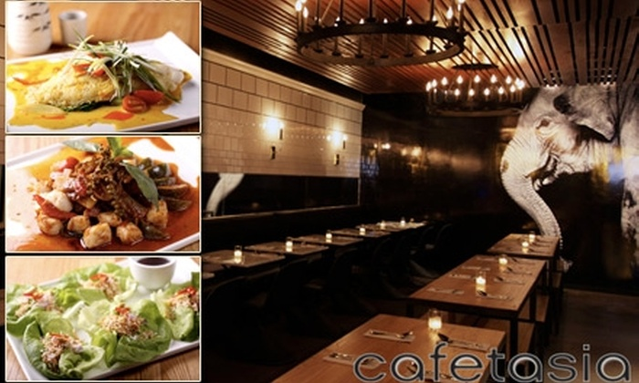 Cafetasia - Multiple Locations: $15 for $30 Worth of Thai Cuisine and Drink at Cafetasia
