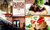 Parish - Inman Park: $15 for $35 Worth of Southern Supper and Sips at Parish