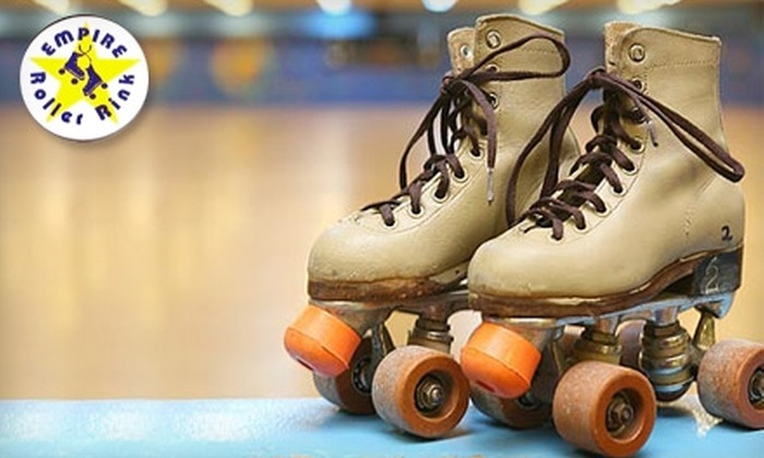 Empire Roller Rink - Third Ward: $5 for Admission, Skate Rental, Popcorn, and a Soda at Empire Roller Rink