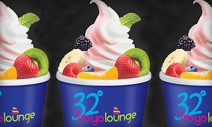 32 Degree FroYo - Great Neck: Cupcakes and Frozen Yogurt at 32 Degree FroYo in Great Neck (Up to 52% Off). Two Options Available.