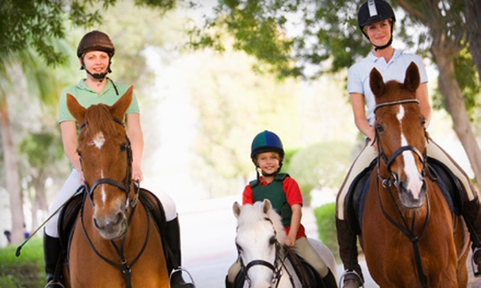Stono River Riding Academy - Johns Island: One or Two Parent-and-Child Horseback-Riding Lessons at Stono River Riding Academy (Up to 55% Off)