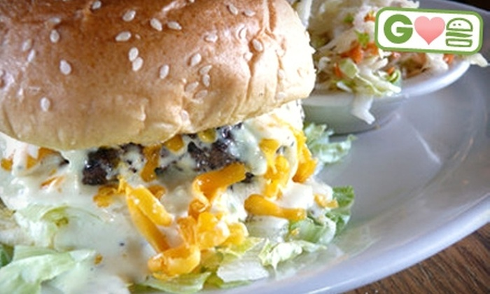 The Brickery Grill & Bar - Sandy Springs: $5 for a Signature Caesar Burger and Side at The Brickery Grill & Bar in Sandy Springs ($10.50 Value)