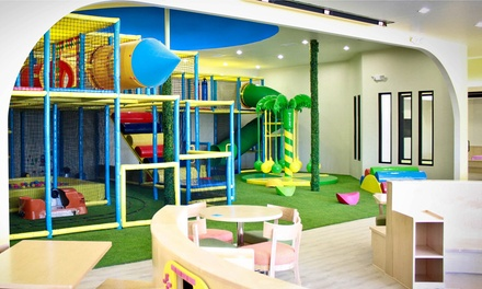 One-Month Indoor Playground Pass for One or Two Children at Twinkle Twinkle Kids' Café (Up to 51% Off)