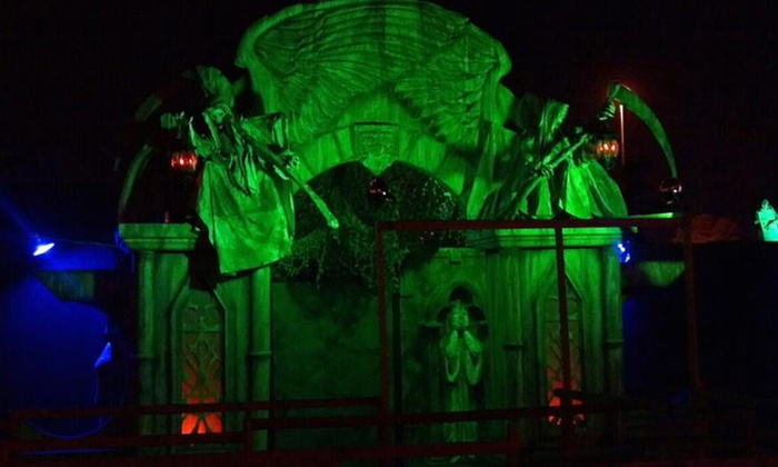 The Crypt Haunted Attractions - The Crypt Haunted Attractions: Three Haunted Houses for Two People with Optional Fast Pass at The Crypt Haunted Attractions (Up to 50% Off)