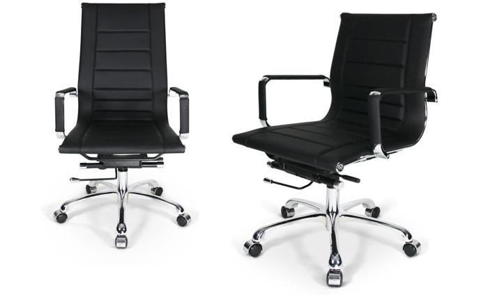 Luxe zwarte bureaustoel groupon goods
