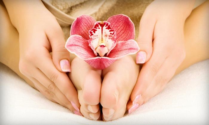 Voda Salon Sun & Spa - Regina: Basic Manicure, Basic Pedicure, or Mani-Pedi at Voda Salon Sun & Spa (Up to 51% Off)