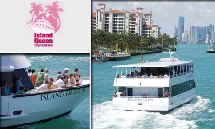 Island Queen Cruises - Miami: $40 for Dining & Sightseeing Cruise Package with Island Queen Cruises and Tradewinds Waterfront Bar & Grill (Up to $85 Value)