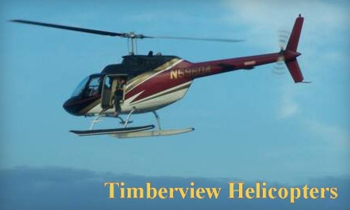 Timberview Helicopters - Multiple Locations: $149 for a 20-Minute Helicopter Tour for Three People from Timberview Helicopters ($315 Value)